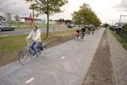 Prima pistă solară de biciclete