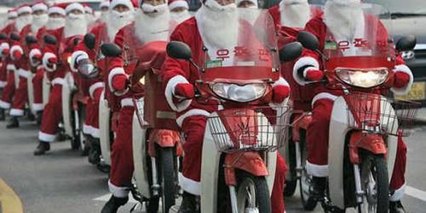 Moş Crăciun este tot mai popular în China