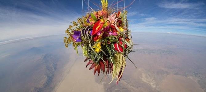 Artistul japonez care lansează flori în spaţiu