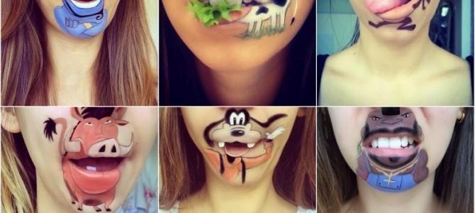 Arta creativă a machierii buzelor