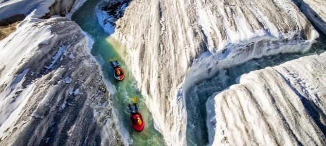 Hydrospeeding pe gheţarul Aletsch din Elveţia