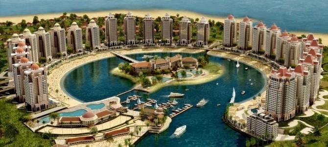 Perla Qatarului, o luxoasă insulă artificială