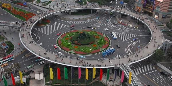 Podul pietonal circular din Lujiazui