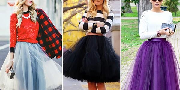 Fustele din tul domină actualele preferinţe vestimentare