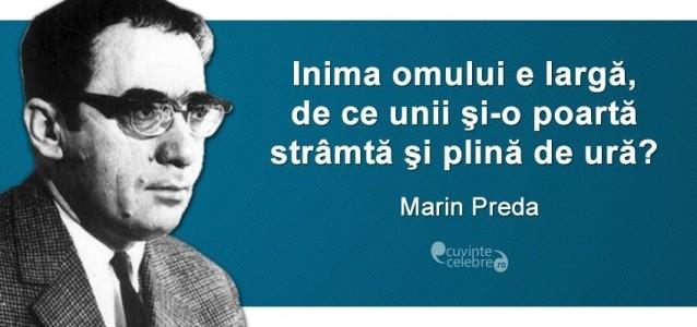 """Marin Preda, între """"Marele singuratic"""" şi """"Cel mai iubit dintre pământeni"""""""