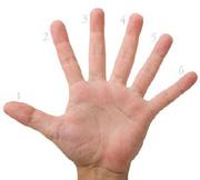 Oamenii cu cele mai multe degete