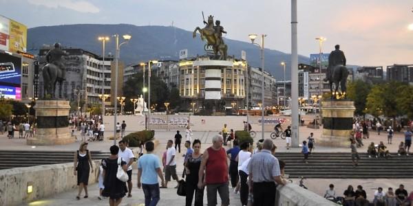 Skopje, capitala Macedoniei