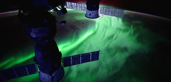 Videoclip în 4K cu aurore boreale