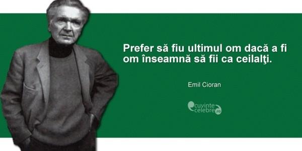 """Emil Cioran, """"scepticul de serviciu al unei lumi în declin, nu filosof"""""""