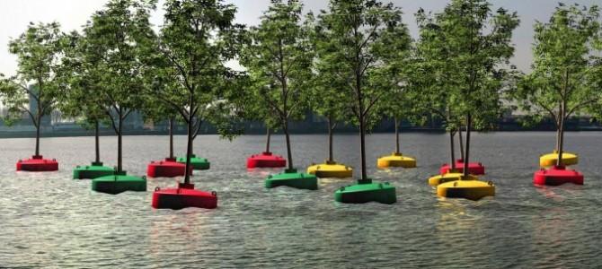 """Prima """"pădure plutitoare"""" din Rotterdam"""