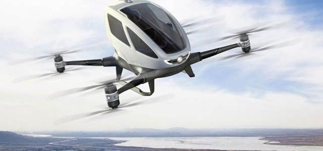 Prima dronă cu pasageri umani