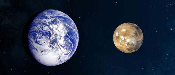 Planeta Marte a trecut cel mai aproape de Pământ în ultimii zece ani