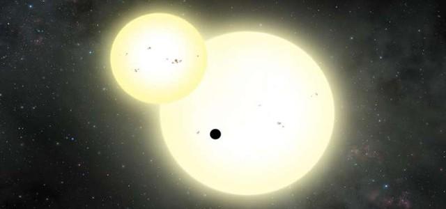 Cea mai mare exoplanetă care orbitează în jurul a două stele