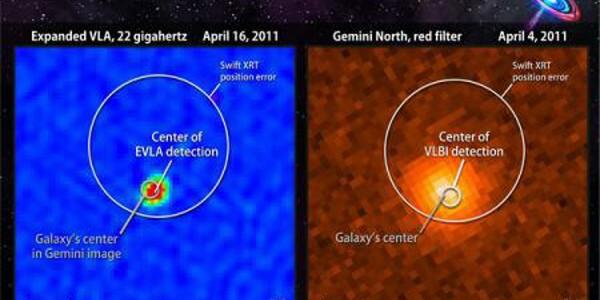 O gaură neagră inactivă s-a trezit şi a distrus o stea care s-a apropiat prea mult