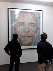 Portret al lui Barack Obama din 3.600 de timbre
