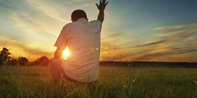 Man prays to God