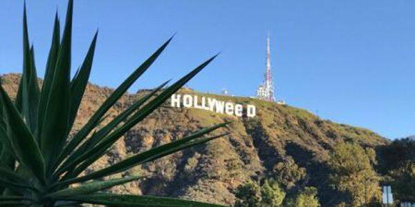 """Reclama """"Hollywood"""" de la Los Angeles, ţinta unei farse în noaptea dintre ani"""