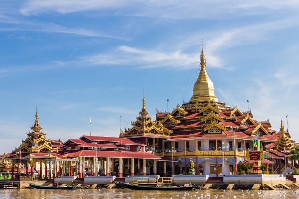 Temple ,  inle lake in Myanmar (Burmar)