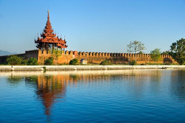 Mandalay Fort, Myanmar.