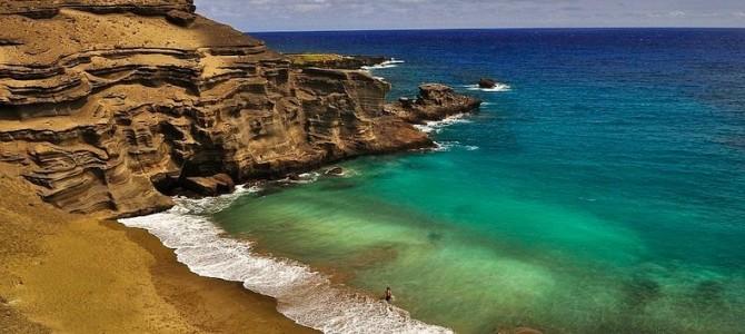 Papakolea, plaja cu nisip verde