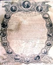 Biblioteca Teleki deţine o copie gravată a Declaraţiei de Independenţă a SUA