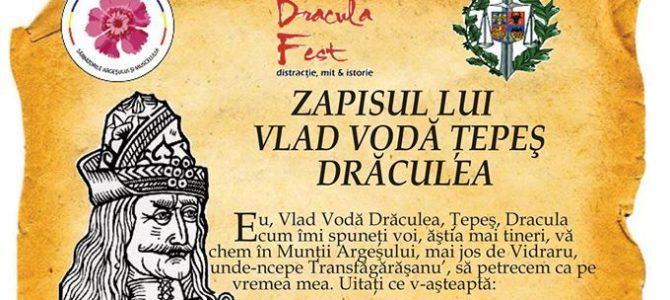 """Dracula Fest: """"Vă aştept, să nu-mi trageţi teapă"""""""