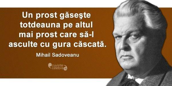 "Mihail Sadoveanu, ""cel mai puternic poet al naturii"""