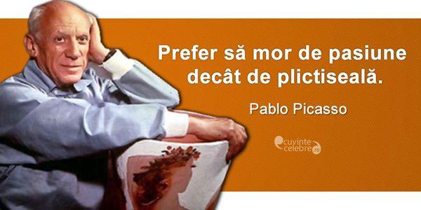 Pablo Picasso, unul dintre cei mai influenţi artişti ai secolului XX