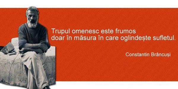 """Constantin Brâncuşi: """"Sculpturile mele sunt chiar şi pentru cei orbi"""""""